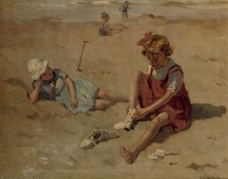 Kinderen op het strand: childr