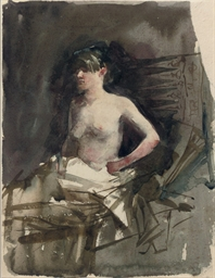 Zittende vrouw: seated lady