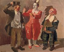 Three clowns: the Fratellini brothers in the cirque Médrano, Paris