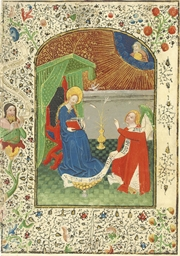 ANNUNCIATION, miniature on a l