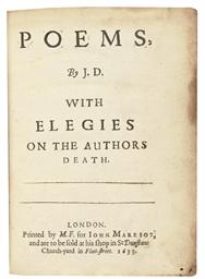 DONNE, John (1572-1631).  Poem