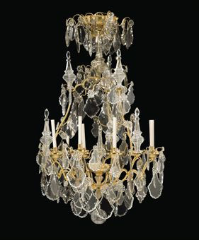 lustre de style louis xv xxeme siecle european furniture works of art auction chandelier. Black Bedroom Furniture Sets. Home Design Ideas