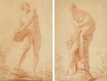 Deux études d'après l'antique: Hercule et Femme portant une jarre d'eau