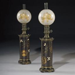 PAIRE DE LAMPES A PETROLE