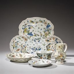 ENSEMBLE EN FAIENCE DE ROUEN D