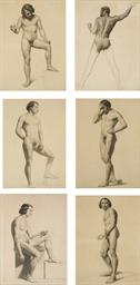 Six académies d'hommes nus dan