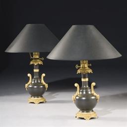 PAIRE DE LAMPES A PETROLE DE S