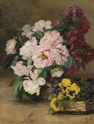 Bouquet de pivoines et primevè