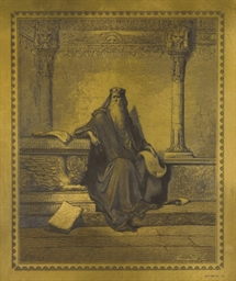 Salomon au temple