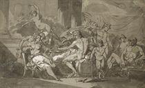 Scène de banquet avec Jupiter et Mercure