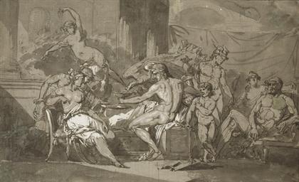 Scène de banquet avec Jupiter