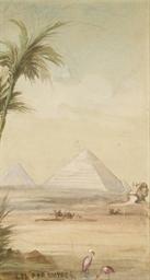 Vue du Caire; Le Sphinx et la