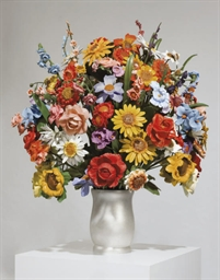 Large Vase of Flowers