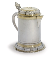 A BALTIC PARCEL-GILT FLAGON