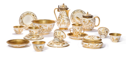 A MEISSEN GOLDCHINESEN COMPOSI