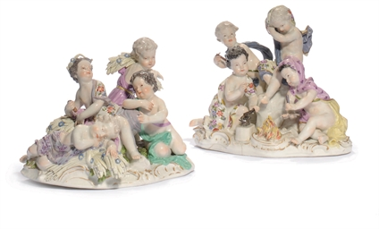 A PAIR OF MEISSEN GROUPS EMBLE