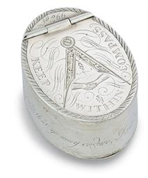 A GEORGE III SILVER NUTMEG-GRA