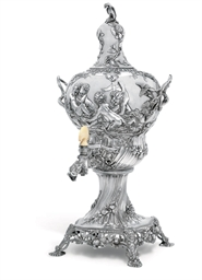 A GEORGE III IRISH SILVER TEA-