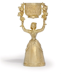 A WILLIAM IV SILVER-GILT WAGER