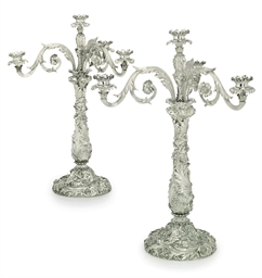 A PAIR OF GEORGE IV SILVER FOU