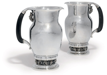 TWO DANISH WATER-PITCHERS DESI