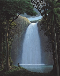 La luz sobre la cascada