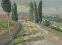 Untitled (Figure in a landscape)