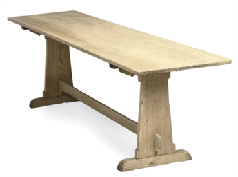 AN ARTS AND CRAFTS OAK REFECTO