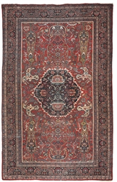 An atique Mahal carpet