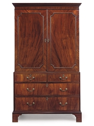 A GEORGE III MAHOGANY AND PINE