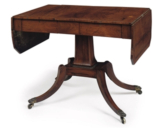 A GEORGE IV ROSEWOOD AND MAHOG