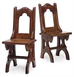 A PAIR OF VICTORIAN GOTHIC PIT