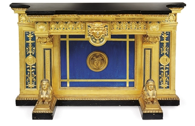 A NORTH EUROPEAN GILTWOOD, EBO
