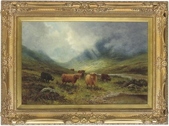 A Highland landscape with catt