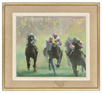 Spring racing; At full speed; and Galloping through the mist
