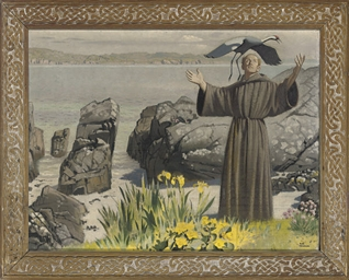 St. Francis of Assisi preachin
