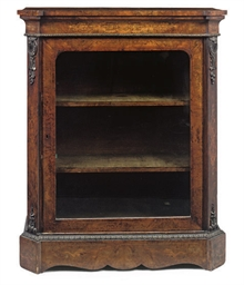 A MID-VICTORIAN WALNUT AND MET