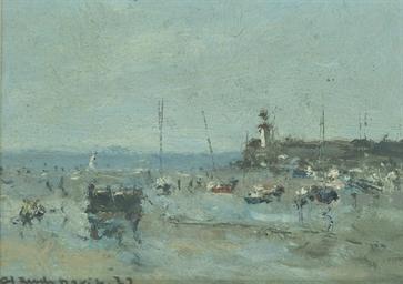 Fishing boats on the coast, Er