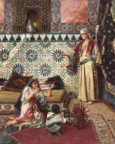 Spinning yarn in the Harem