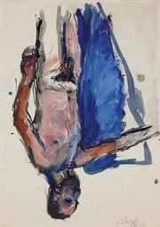 Untitled (Akt mit Flügel)