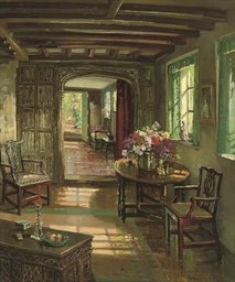 A sunlit interior
