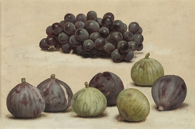 Still life of grapes and figs