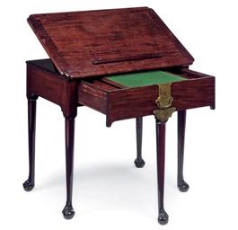 A MAHOGANY ARCHITECT'S TABLE