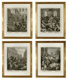 A SET OF FOUR ENGRAVINGS FROM