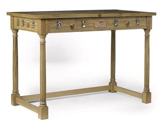 A POLLARD OAK SIDE TABLE