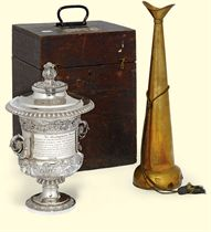 A GEORGE IV SILVER CUP AND COVER