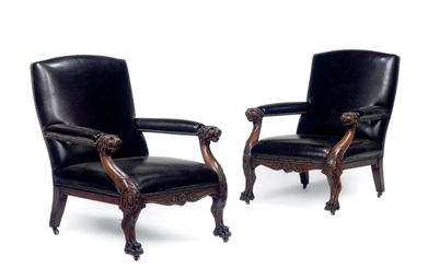 A PAIR OF MID-VICTORIAN OAK LI