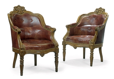 A PAIR OF LATE VICTORIAN CARVE