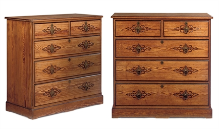 A PAIR OF LATE VICTORIAN PINE