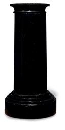 A BELGIAN BLACK MARBLE COLUMNA